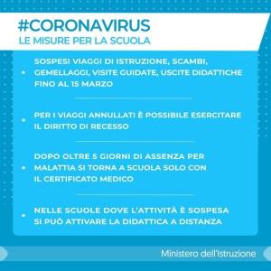 coronavirus- le misure per la scuola