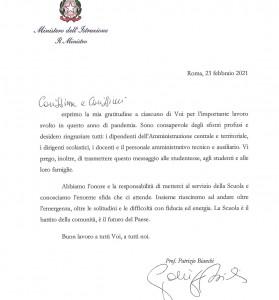 Lettera del Ministro dell'Istruzione, prof. Patrizio Bianchi_page-0001